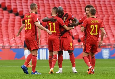 Rekap Hasil UEFA Nations League: Belgia vs Inggris 2-0, Italia vs Polandia 2-0