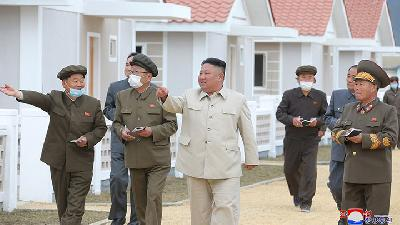 Kim Jong Un Pushes for Major Construction in Typhoon Hit Areas