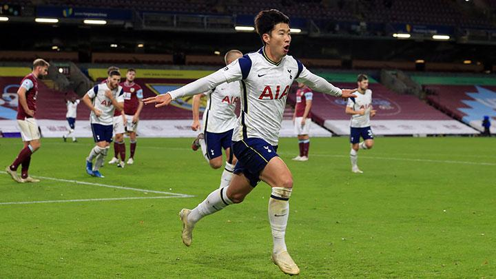 Son Strikes Again as Hotspur Beat Burnley to Move Fifth
