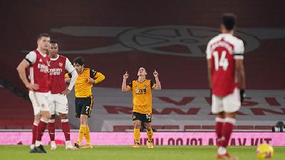 Wolves Tumbangkan Arsenal di Emirates