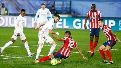 Hasil Liga Spanyol Atletico Madrid Vs Real Madrid 1-1