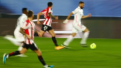 Hasil Liga Spanyol, Athletic Bilbao Vs Real Madrid 0-1