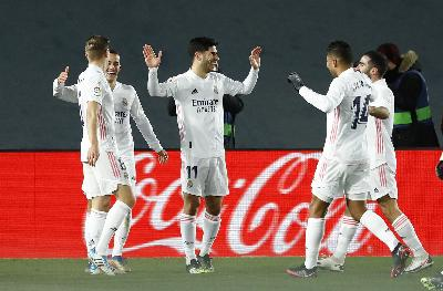 Klasemen Liga Spanyol: Valladolid vs Real Madrid 0-1, Atletico vs Levante 0-2
