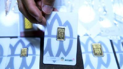 Antam Gold Prices Slightly Down in Wednesday's Trade