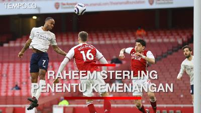 Arsenal Vs Manchester City 0-1, Raheem Sterling Penentu Kemenangan