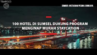 100 Hotel Dukung Program Menginap Murah Staycation Sumsel
