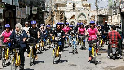 'Like a Bird Freed from a Cage': Women in Mosul Learn To Bike