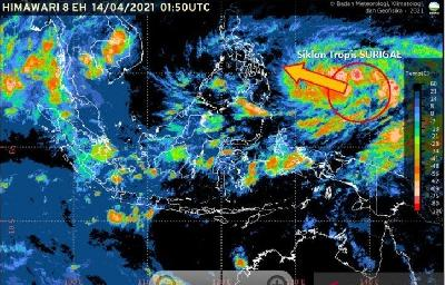 Cyclone Surigae Moving away from Indonesia in 24 Hours: BMKG