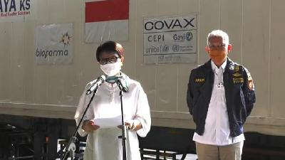 Indonesia Gets Third Batch of AstraZeneca Vaccine under COVAX Facility